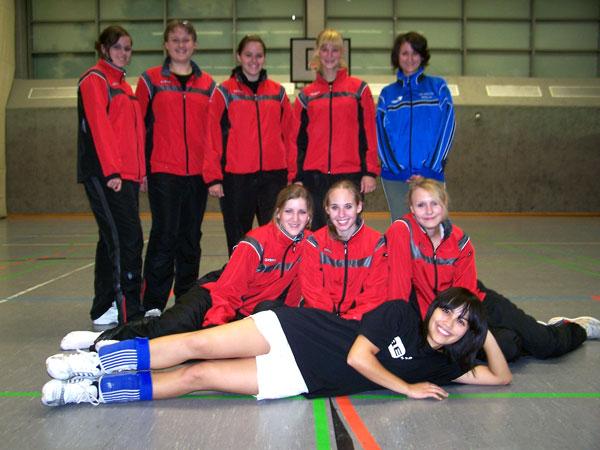 von hinten links nach vorne rechts: Anne Neumeyer, Irene Kremer, Sophie Neumeyer, Lea Kiefel, Isabel Damke, Vanessa Gerlach, Sarah Stanske (C), Annika Weigand, Marie Behrent