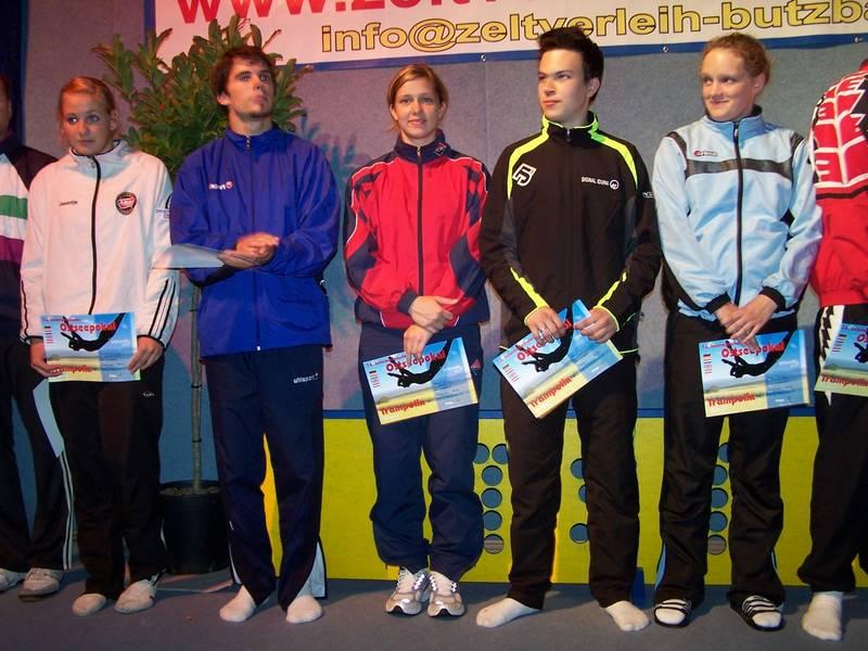 Jennifer Kohlhoff bei der Siegerehrung