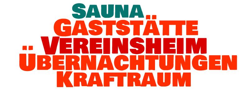 Vereinsheim Wordcloud