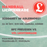 Handball Südderby 30. November 2019