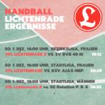 Handball Ergebnisse 1. Dezember 2019