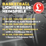 Basketball Heimspiele 12. Januar 2020