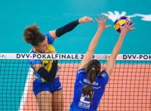 Volleyball DVV-Pokalfinale 2020 @ SAP-Arena Mannheim | Mannheim | Baden-Württemberg | Deutschland