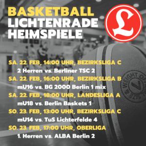 Basketball 2. Herren Bezirksliga C – VfL Lichtenrade II vs. Berliner TSC 2 @ Grundschule am Dielingsgrund | Berlin | Berlin | Deutschland