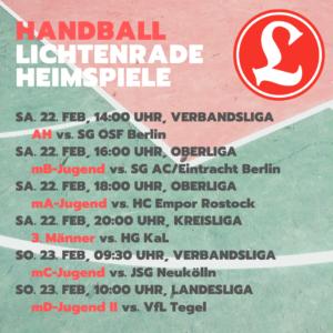 Handball Alter Herren Verbandsliga – VfL Lichtenrade vs. SG OSF Berlin @ Reinhold-Meyerhof-Schulsporthalle | Berlin | Berlin | Deutschland