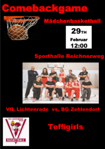 Basketball wU14 Comebackgame – VfL Lichtenrade vs. BG Zehlendorf @ Grundschule am Dielingsgrund | Berlin | Berlin | Deutschland