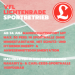 UPDATE! 29.07.2020 12:00 - Blog: Wiedereinstieg in den Sportbetrieb