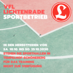 UPDATE! 13.10.2020 09:00 - Corona-Blog: Sport im VfL Lichtenrade