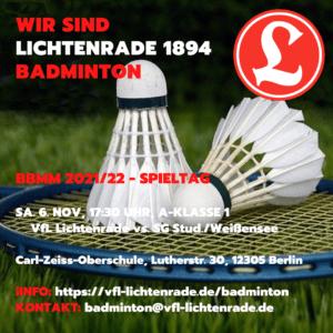 BBMM Spieltag am 6. November 2021 @ CZO oben | Berlin | Berlin | Deutschland