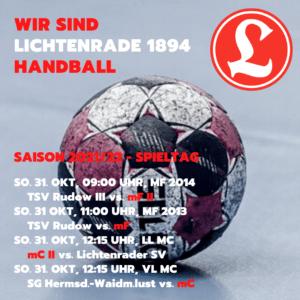 HVB Spieltag am 31. Oktober 2021