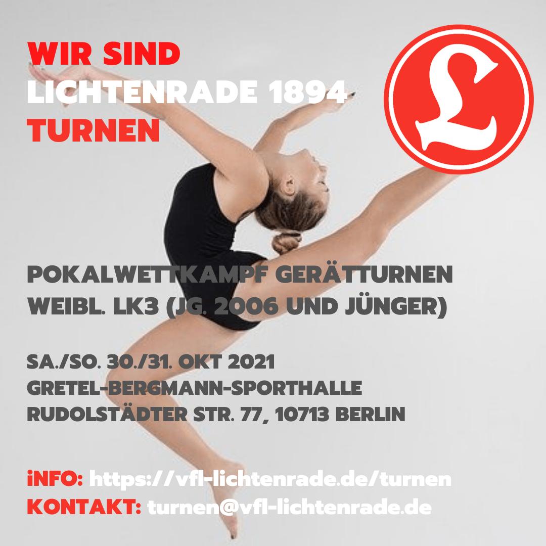 Pokalwettkampf Gerätturnen weiblich LK3 (Jg. 2006 und jünger) @ Gretel-Bergmann-Sporthalle | Berlin | Berlin | Deutschland
