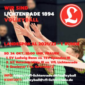 VVB Landespokal – 1. Runde am 24. Oktober 2021 @ Evangelische Schule Berlin Zentrum | Berlin | Berlin | Deutschland